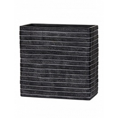 Кашпо Capi Nature row planter rect high 1-й размер black, чёрный
