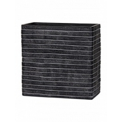 Кашпо Capi Nature row planter rect high 2-й размер black, чёрный
