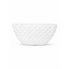 Кашпо Capi Lux heraldry planter oval 1-й размер white, белый