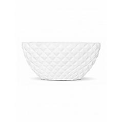 Кашпо Capi Lux heraldry planter oval 2-й размер white, белый