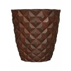 Кашпо Capi Lux heraldry vase taper round 2-й размер rust