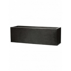 Кашпо Capi Lux planter rectangle 1-й размер black, чёрный
