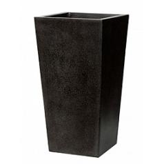 Кашпо Capi Lux planter tapering 2-й размер black, чёрный