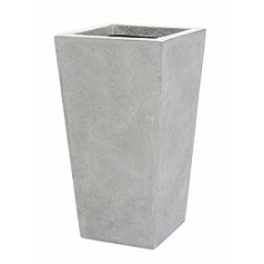 Кашпо Capi Lux planter tapering 2-й размер light grey, серый, светло-серый