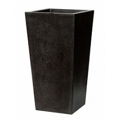 Кашпо Capi Lux planter tapering 3-й размер black, чёрный