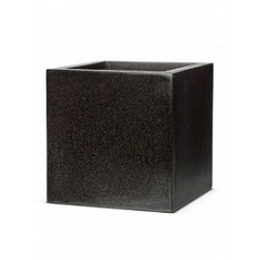 Кашпо Capi Lux pot square 1-й размер black, чёрный