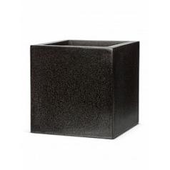 Кашпо Capi Lux pot square 2-й размер black, чёрный