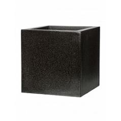 Кашпо Capi Lux pot square 3-й размер black, чёрный