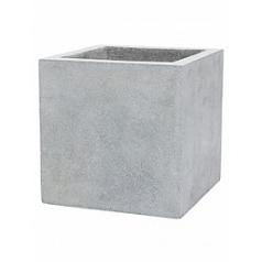 Кашпо Capi Lux pot square 3-й размер light grey, серый, светло-серый