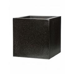 Кашпо Capi Lux pot square 4-й размер black, чёрный