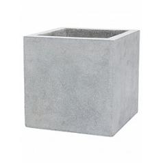 Кашпо Capi Lux pot square 4-й размер light grey, серый, светло-серый