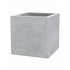 Кашпо Capi Lux pot square 5-й размер light grey, серый, светло-серый