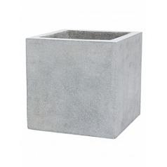Кашпо Capi Lux pot square 6-й размер light grey, серый, светло-серый