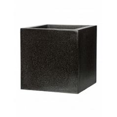 Кашпо Capi Lux pot square 7-й размер black, чёрный