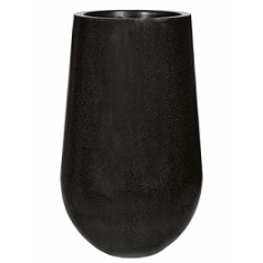 Кашпо Capi Lux vae palm 2-й размер black, чёрный