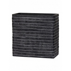 Кашпо Capi Nature row planter rect high 3-й размер black, чёрный