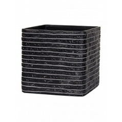 Кашпо Capi Nature row planter square 2-й размер black, чёрный