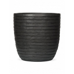 Кашпо Capi Nature row pot round anthracite, антрацит