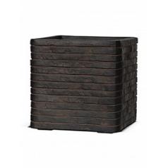 Кашпо Capi Nature row pot square brown, коричневый