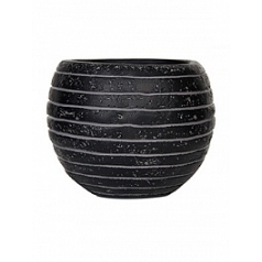 Кашпо Capi Nature row vase ball 3-й размер black, чёрный