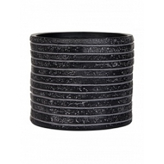 Кашпо Capi Nature row vase cylinder 2-й размер black, чёрный