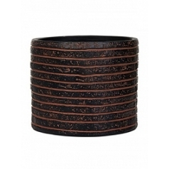 Кашпо Capi Nature row vase cylinder 3-й размер brown, коричневый