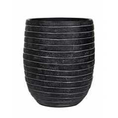 Кашпо Capi Nature row vase elegant high 2-й размер black, чёрный