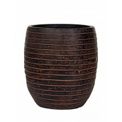 Кашпо Capi Nature row vase elegant high 2-й размер brown, коричневый