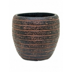 Кашпо Capi Nature row vase elegant 2-й размер brown, коричневый