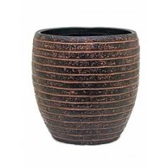 Кашпо Capi Nature row vase elegant 3-й размер brown, коричневый