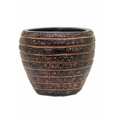 Кашпо Capi Nature row vase taper round 2-й размер brown, коричневый