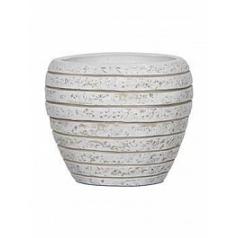 Кашпо Capi Nature row vase tapering round lli ivory, слоновая кость