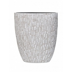 Кашпо Capi Nature stone oval planter 3-й размер ivory, слоновая кость