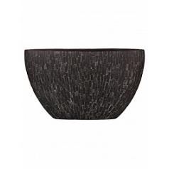 Кашпо Capi Nature stone planter oval 1-й размер black, чёрный