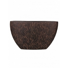 Кашпо Capi Nature stone planter oval 1-й размер brown, коричневый