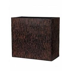 Кашпо Capi Nature stone planter rect high 1-й размер brown, коричневый