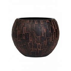 Кашпо Capi Nature stone vase ball 2-й размер brown, коричневый
