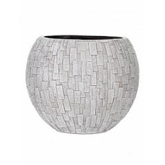 Кашпо Capi Nature stone vase ball 2-й размер ivory, слоновая кость