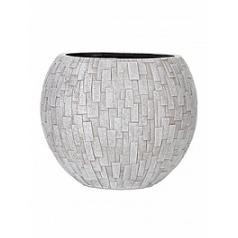 Кашпо Capi Nature stone vase ball 3-й размер ivory, слоновая кость