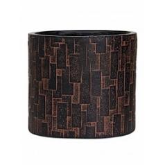Кашпо Capi Nature stone vase cylinder 3-й размер brown, коричневый