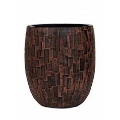 Кашпо Capi Nature stone vase elegant high 2-й размер brown, коричневый