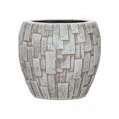 Кашпо Capi Nature stone vase elegant 2-й размер ivory, слоновая кость