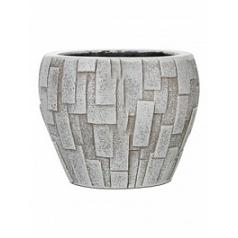 Кашпо Capi Nature stone vase taper round 2-й размер ivory, слоновая кость
