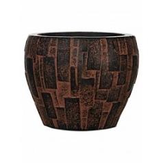 Кашпо Capi Nature stone vase taper round 3-й размер brown, коричневый