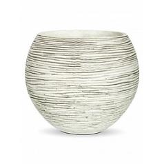 Кашпо Capi Nature vase ball rib 2-й размер ivory, слоновая кость