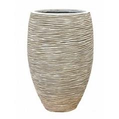 Кашпо Capi Nature vase elegance deLuxe rib 1-й размер ivory, слоновая кость