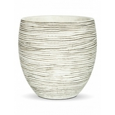 Кашпо Capi Nature vase elegance rib 2-й размер ivory, слоновая кость