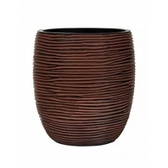 Кашпо Capi Nature vase elegant high 2-й размер rib brown, коричневый