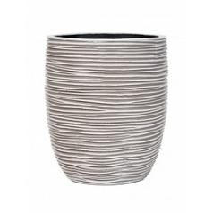 Кашпо Capi Nature vase elegant high 2-й размер rib ivory, слоновая кость