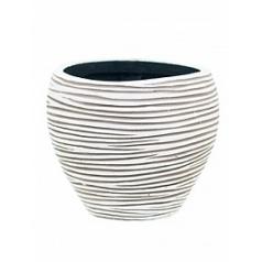 Кашпо Capi Nature vase tapering round rib i5 ivory, слоновая кость